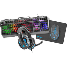 Gaming Combo Set 4 in 1 Fury Thunderjet (tastatura, casti, mouse, mousepad)