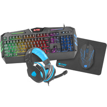 Gaming Combo Set 4 in 1 Fury Thunderstreak 2.0 (tastatura, casti, mouse, mousepad) | Matiado.ro
