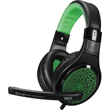 Casti Gaming, MARVO H8323, stereo, 3.5mm, negru-verde
