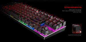 Tastatura gaming mecanica, retroiluminata LED RGB, Havit Gamenote KB435L, Anti Ghosting, USB