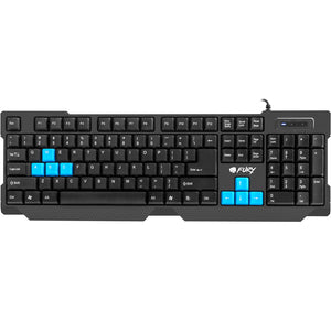 Tastatura gaming, FURY Hornet, USB, Layout US, negru