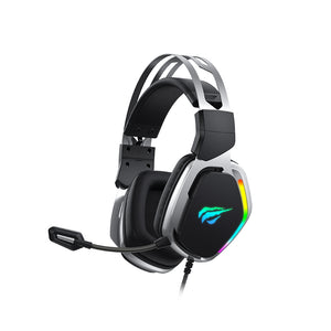 Casti gaming, Havit H2018U, RGB, 7.1, USB, Gri/Negru