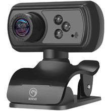 Camera web Marvo MPC01, 5MP, Full HD, microfon, iluminare LED (Negru) | Matiado.ro