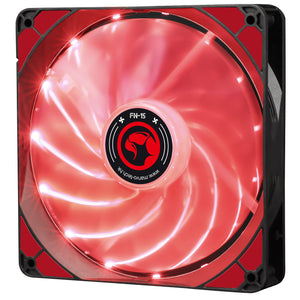 Ventilator 140 mm Marvo FN-15 red LED
