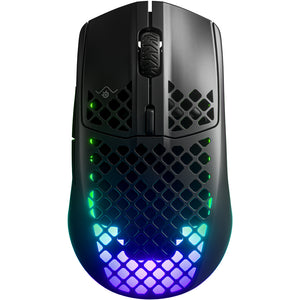 Mouse gaming, SteelSeries Aerox 3 Wireless, 18.000 dpi, autonomie 200 ore, bluetooth 5.0, Quantum 2.0 Dual Wireless, protectie AquaBarrier | Matiado.ro