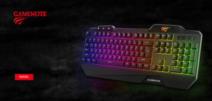 Tastatura gaming, LED RGB, Havit Gamenote KB488L, 107 taste, panou multimedia | Matiado.ro