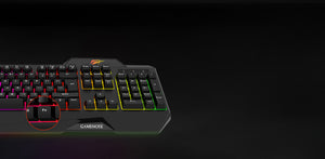 Tastatura gaming, LED RGB, Havit Gamenote KB488L, 107 taste, panou multimedia