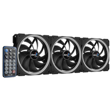 Set 3 ventilatoare Aerocool Orbit RC 120mm iluminare aRGB