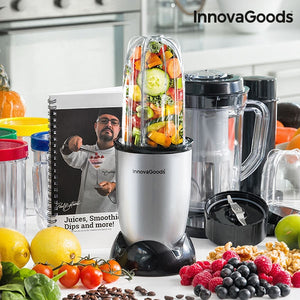 Blender mixer cu pahar si carte de bucate, One Touch, InnovaGoods Kitchen Chef