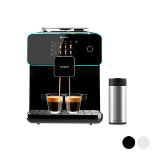 Espressor mega-automat, Cecotec Matic-ccino 9000, touchscreen, 1.7 L, 19 bar, 1500W, carafa de lapte din inox, 5 setari intensitate, 20 de bauturi, sistem CustomCoffee
