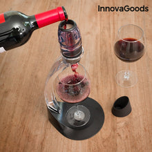 Decantor de vin profesional, baza antipicurare si suport tip turn, InnovaGoods Kitchen Sommelier