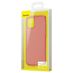 Husa Baseus Liquid Silica Gel Protective pentru iPhone 11, Clear Red
