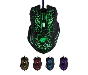 Mouse Gaming Havit HV-MS672, optic, 7culori Led, 6 Butoane, 3200 DPI, cablu USB