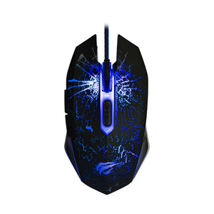 Kit Gaming cu Tastatura si Mouse, Havit Gamenote KB558CM, LED, Negru | Matiado.ro