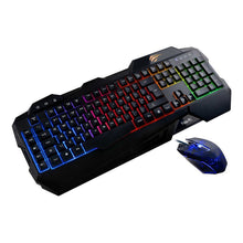 Kit Gaming cu Tastatura si Mouse, Havit Gamenote KB558CM, LED, Negru