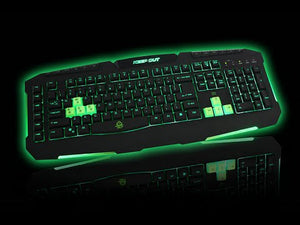 Tastatura Gaming Iluminata, KEEP OUT F80S, Negru/Verde