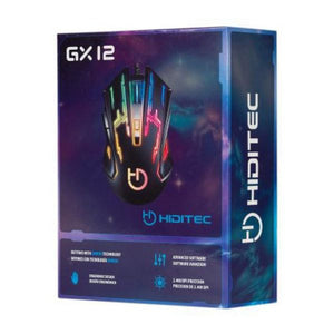 Mouse Gaming, Hiditec GX12, 2400 DPI, Negru
