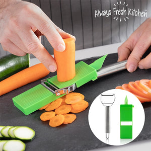 Razatoare-curatator de legume, Slide & Slice, 2 in 1, Always Fresh Kitchen