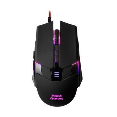 Mouse gaming, Tacens Mars Gaming, 3200 DPI, iluminare in 7 culori LED, negru
