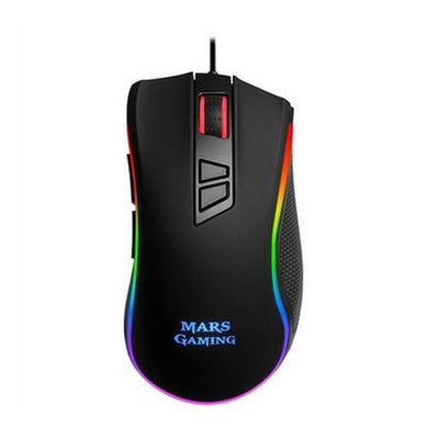 Mouse Gaming cu LED, Mars Gaming MM218, 10000 dpi, Negru