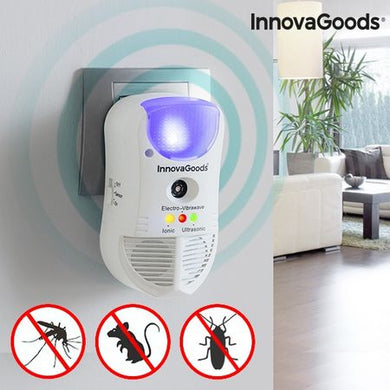 Aparat contra daunatorilor, 465 m², LED si senzor 5 in 1, InnovaGoods Home Pest