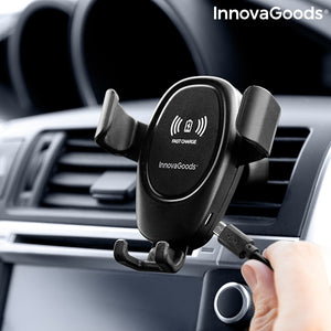 "Suport auto InnovaGoods, cu incarcare wireless, Fast Charge 10W, 4""-6"""