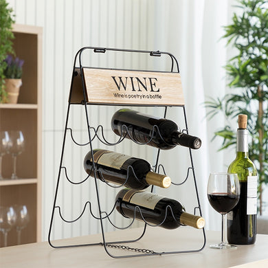 Suport sticle vin, Excellent Metal Deco, 30x26x49 cm