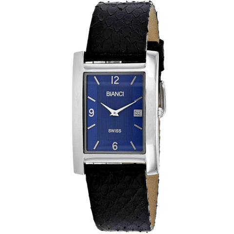 Affordable Women's Classico Blue and Black Stainless Steel Swiss Quartz Watch