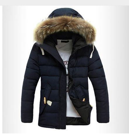 Men's Winter Casual Single Breasted Jacket Blue