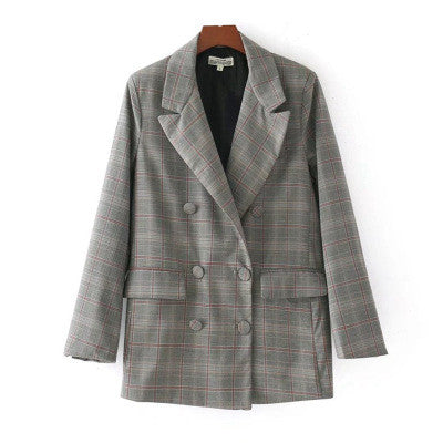 Women's European style long suit jacket.