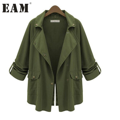 Affordable Women's Army Green Loose Fit Jacket