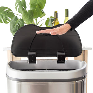 The Sesame: Sensor-touchless St.Steel Recycle Bin