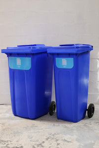 Wheelie bins (240L, 140L sizes)
