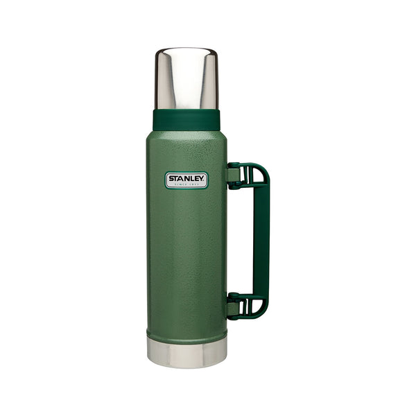 Stanley - CLASSIC VACUUM INSULATED BOTTLE - 1.3L | Hammertone green - Stuntwood