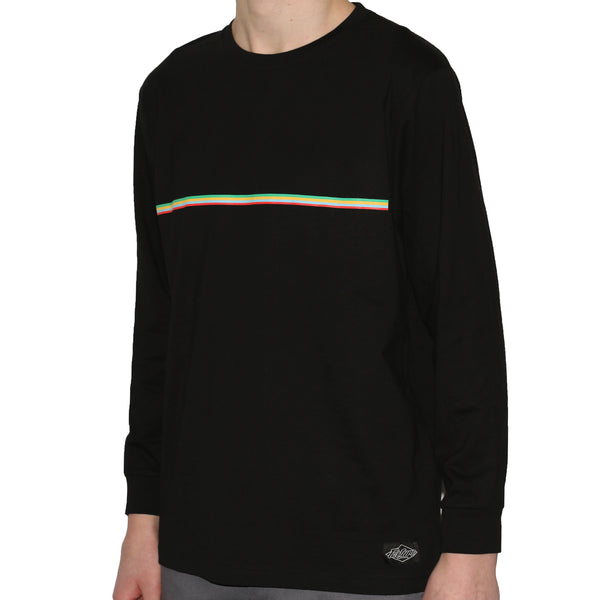 PICTURE SKATEBOARDS - STRIPE LS TEE - BLACK
