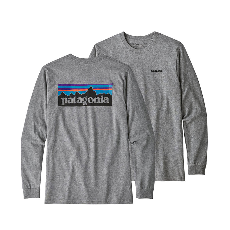 Patagonia - L/S P6 Logo Responsible  Tee - Gravel Heather - Stuntwood