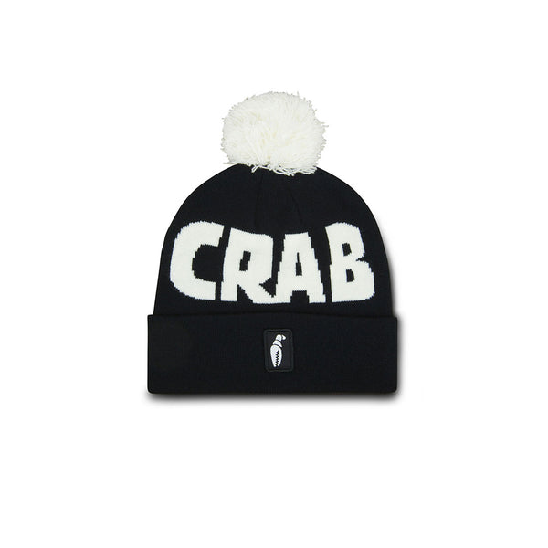 Crab Grab - Pom beanie - Black