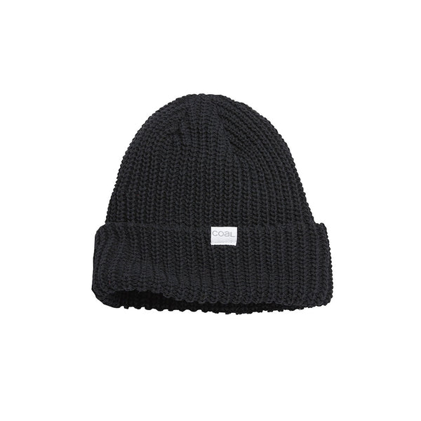 Coal - Eddie Recycled Knit Cuff Beanie - Black - Stuntwood