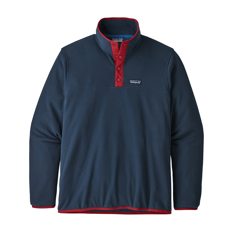 Patagonia - M's Micro D Snap-T P/O - New Navy Classic Red - Stuntwood