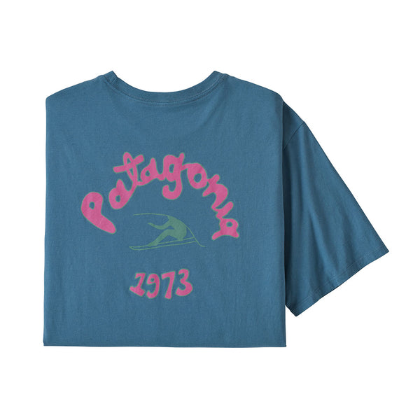Patagonia - M's Vision Mission Organic T-Shirt - Pigeon Blue - Stuntwood