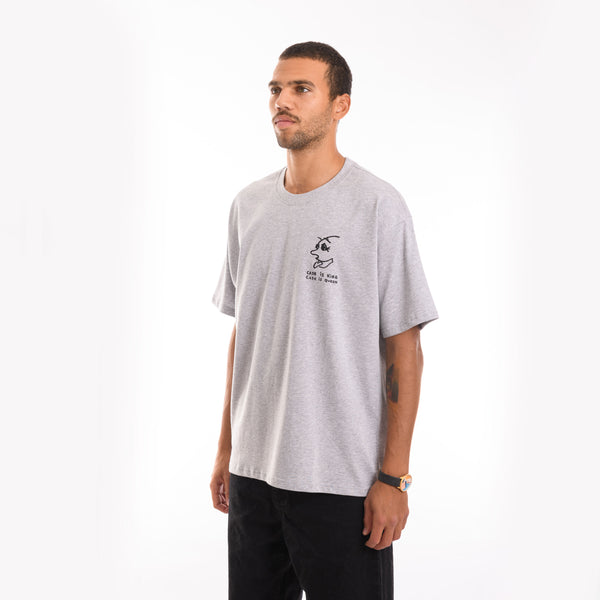 Polar Skate Co. - Cash is Queen Tee - Sports Grey - Stuntwood