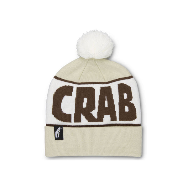 Crab Grab - Pom Beanie - Coffee Cream