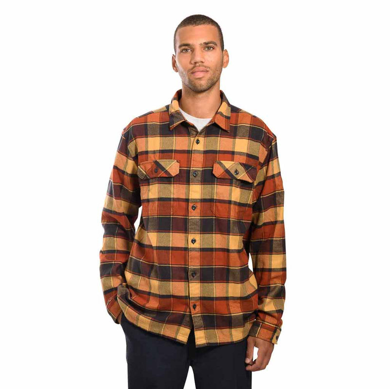 Patagonia - M's L/S Fjord Flannel Shirt - Plots: Burnished Red