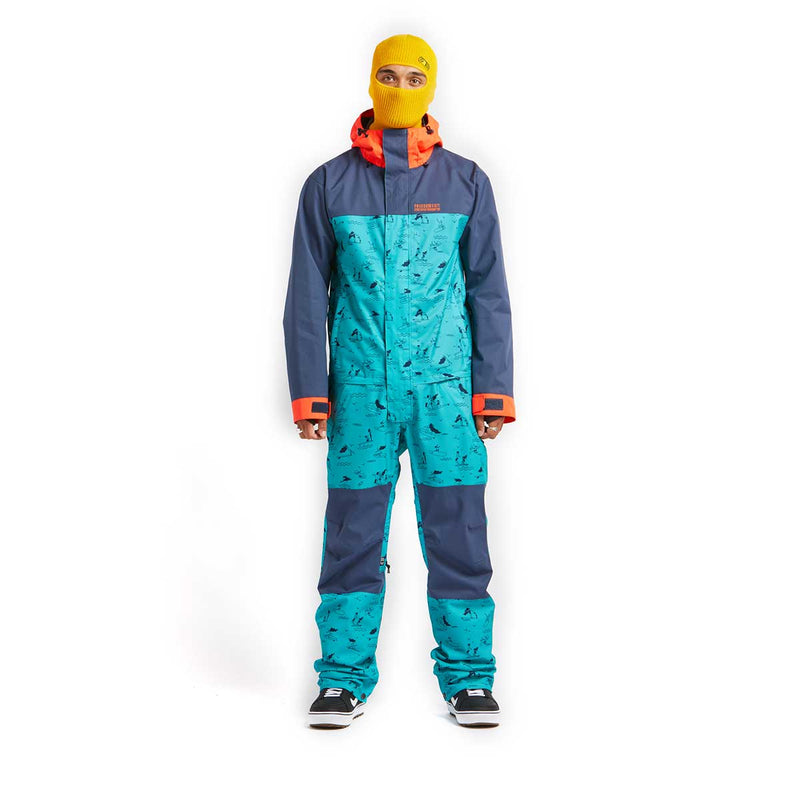 Airblaster - M's Stretch Freedom Suit Sample - HE Teal - Stuntwood