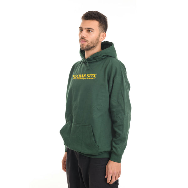 Vischan Stix - Business in the front Hoodie - Green - Stuntwood