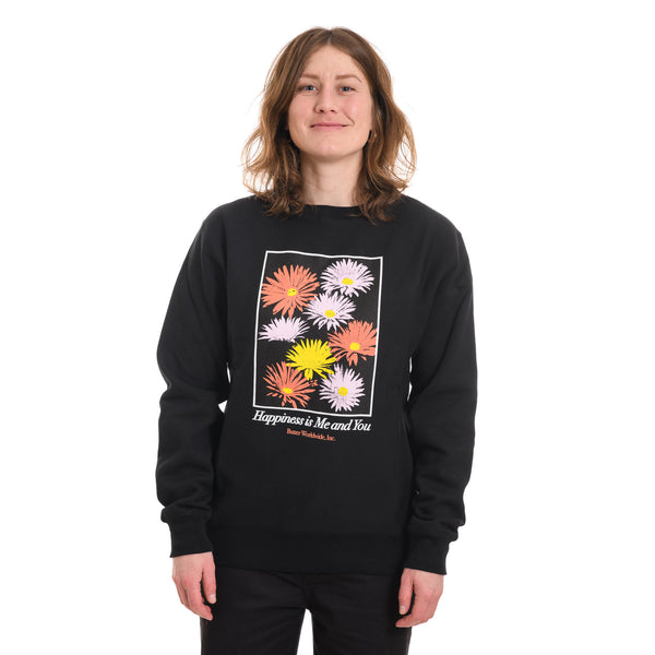 Butter Goods - Happiness Crewneck - Black - Stuntwood