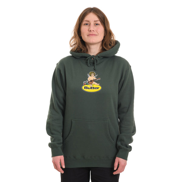 Butter Goods - Angel Badge Pullover Hood - Forest Green - Stuntwood