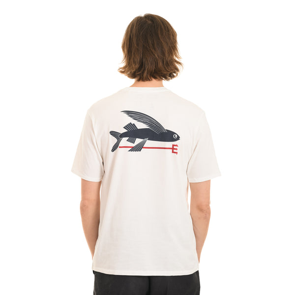 Patagonia - M's Flying Fish Organic T­Shirt - White - Stuntwood
