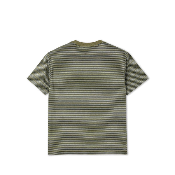 Polar Skate Co. - Stripe Pocket Tee - Army Green