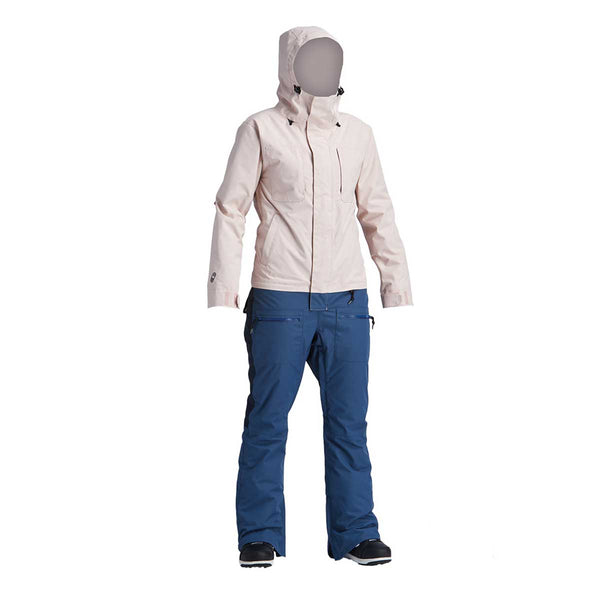Airblaster - W's Insulated Freedom Suit Sample - Navy/Blush - Stuntwood